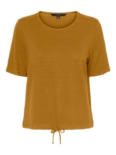 vmaleah ss top jrs ga 10234459 vero moda t-shirt buckthorn brown