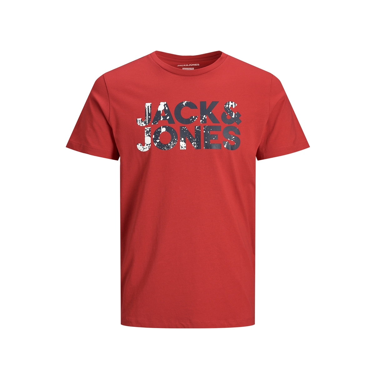 jjsplash corp logo tee ss 12176707 jack & jones t-shirt tango red/slim