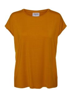 Vero Moda T-shirt VMAVA PLAIN SS TOP GA NOOS 10187159 Buckthorn Brown