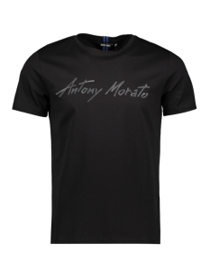 Antony Morato T-shirt KNITWEAR MMKS01858 9000 BLACK