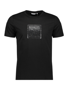 Antony Morato T-shirt ORANGE LINE MMKS01831 9000 BLACK