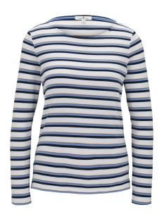 Tom Tailor T-shirt KLEURRIJK GESTREEPT SHIRT MET LANGE MOUWEN 1021047 24625