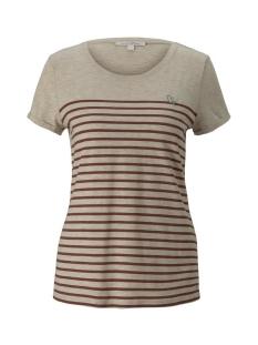 Tom Tailor T-shirt GESTREEPT T SHIRT MET BORDUURSEL 1021105XX71 24421