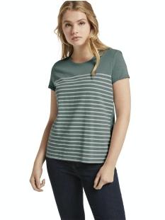 Tom Tailor T-shirt GESTREEPT T SHIRT MET BORDUURSEL 1021105XX71 13178