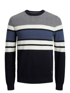 Jack & Jones Trui JJTUCKER KNIT CREW NECK 12173741 Cloud Dancer/KNIT FIT