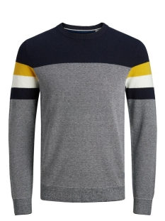 Jack & Jones Trui JJTUCKER KNIT CREW NECK 12173741 Spicy Mustard/ KNIT FIT