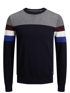 Jack & Jones Trui JJTUCKER KNIT CREW NECK 12173741 Port Royale/KNIT FIT