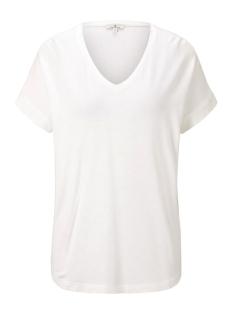Tom Tailor T-shirt BASIC T SHIRT MET V HALS 1018435XX70 10315 WHITE