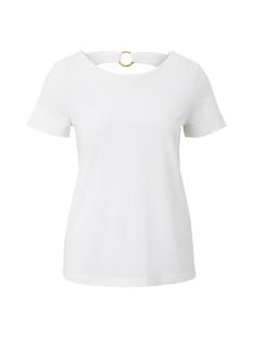 Tom Tailor T-shirt T SHIRT MET RING DETAIL OP DE RUG 1019243XX70 10315 WHITE