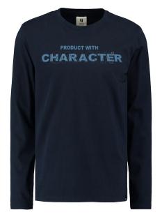 Garcia T-shirt LONGSLEEVE MET TEKSTPRINT T01213 292 Dark Moon
