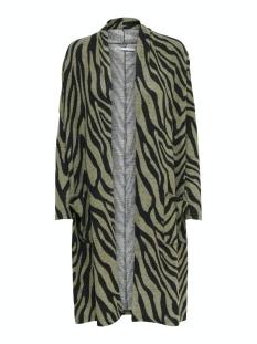 Only Vest ONLMAYEA LEO LIFE L/S CARDIGAN CC K 15208984 Kalamata/ZEBRA BLAC