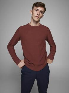 Jack & Jones Trui JPRBLAADAM KNIT CREW NECK STS 12178459 Hot Chocolate