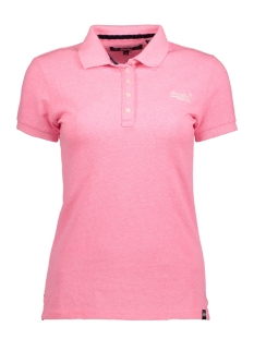 Superdry T-shirt G11000TOF1 CLASSIC POLO 52R PINK