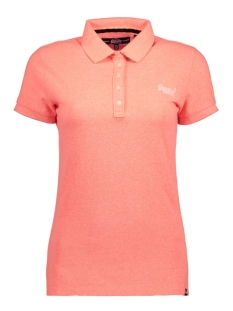Superdry T-shirt G11000TOF1 CLASSIC POLO ZGU CORAL