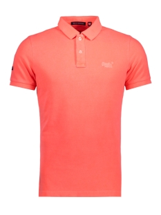 Superdry Polo M11MT009F3 POLO MMF FLUOR CORAL
