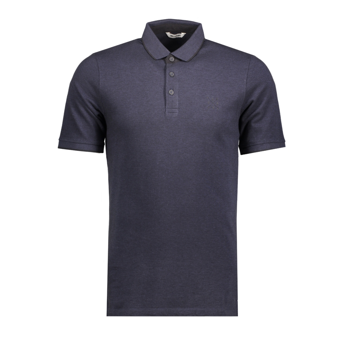 onsstan ss fitted polo tee noos 22006560 only & sons polo dress blues/black contrast