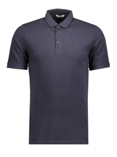onsSTAN SS FITTED POLO TEE NOOS 22006560 Dress Blues/Black Contrast