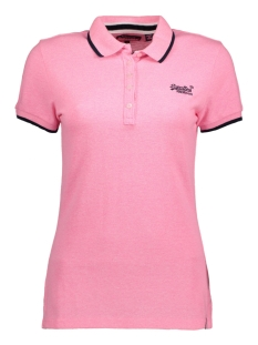 Superdry T-shirt G60008TQ PACIFIC POLO 28R PINK