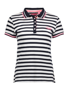 Superdry Polo G60007TQ PACIFIC STRIPE PZE WHITE NAVY
