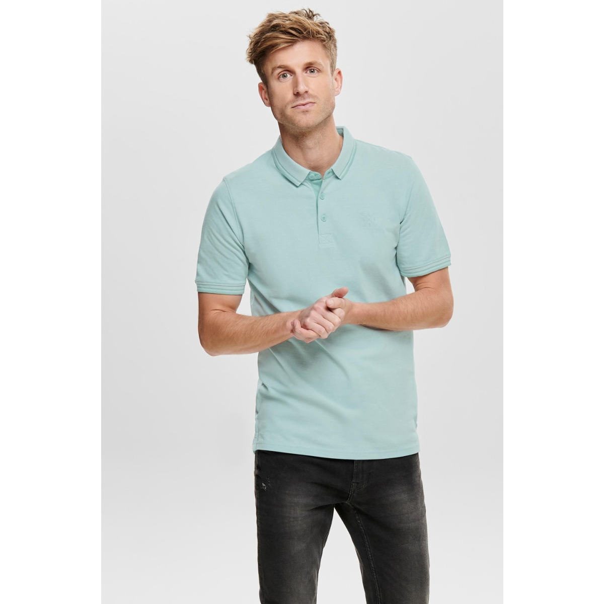 onsstan ss fitted polo tee (6560) noos 22011349 only & sons polo aquifer