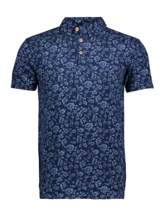 Only & Sons Polo onsMILOS INDIGO FLOWER SS POLO EXP 22011089 Night Sky