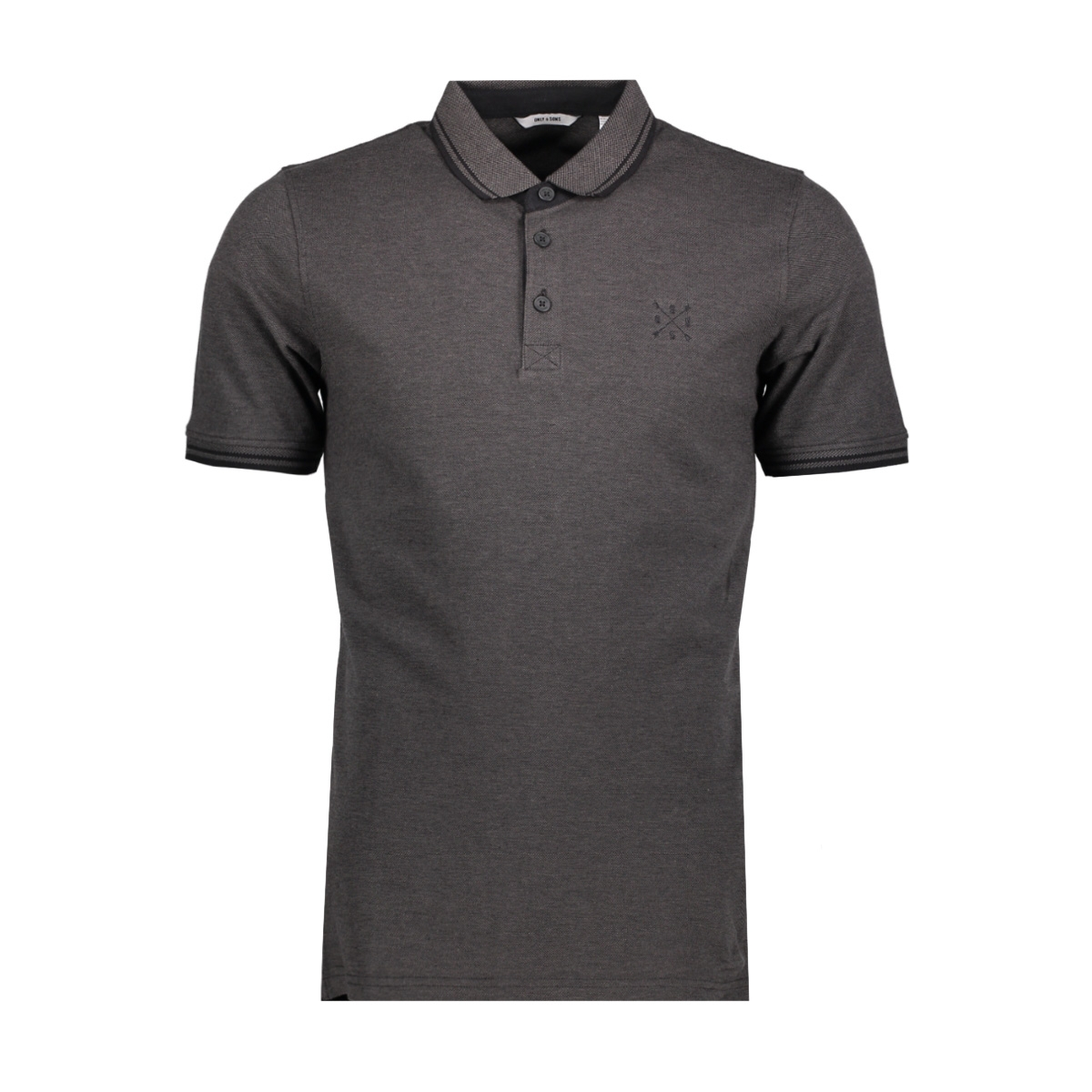 onsstan ss fitted polo tee 6560 n 22011349 only & sons polo black