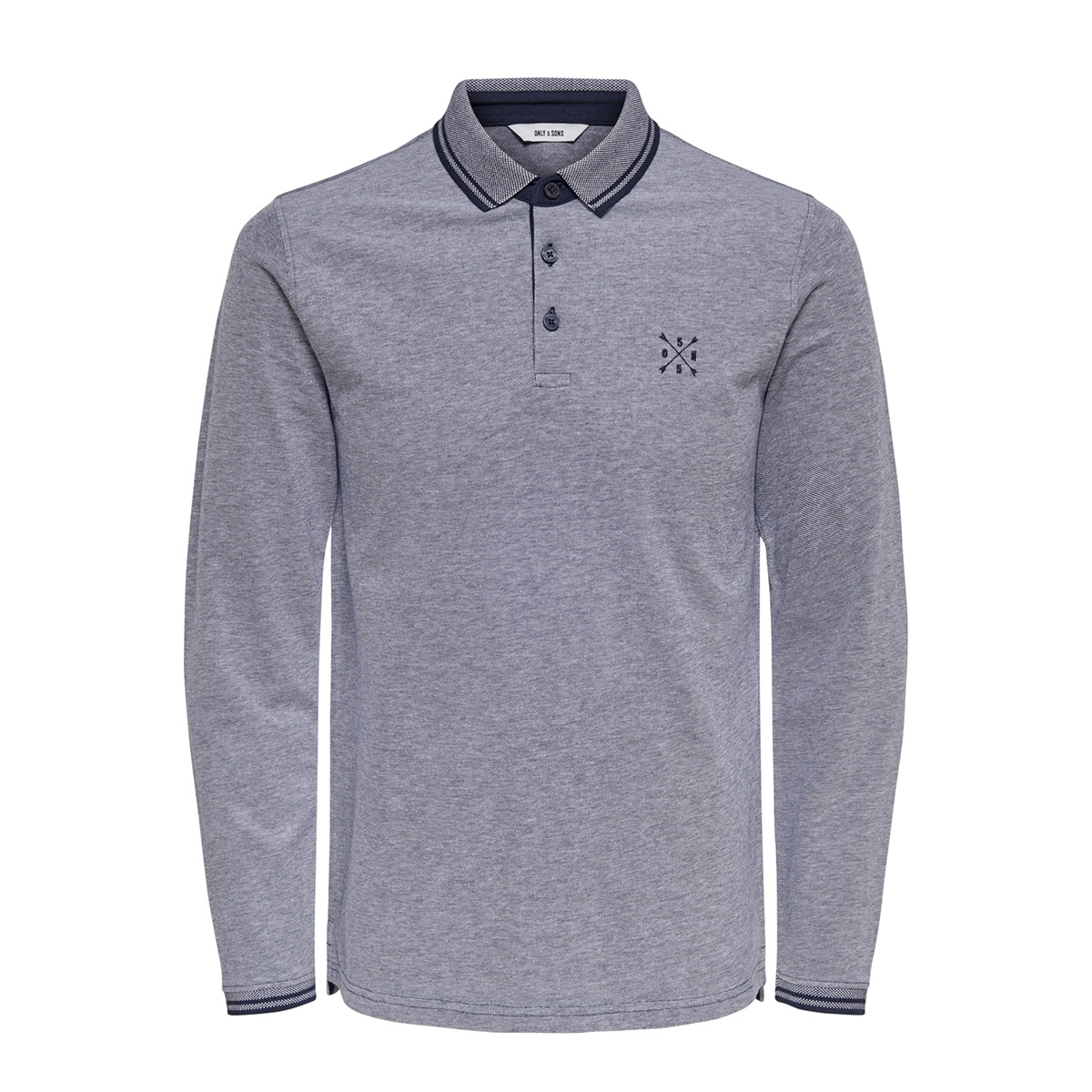 onsstan ls fitted polo 22011275 only & sons polo dress blues
