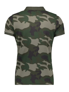 m11002rr classic s/s pique polo superdry polo green tree camo  zw5