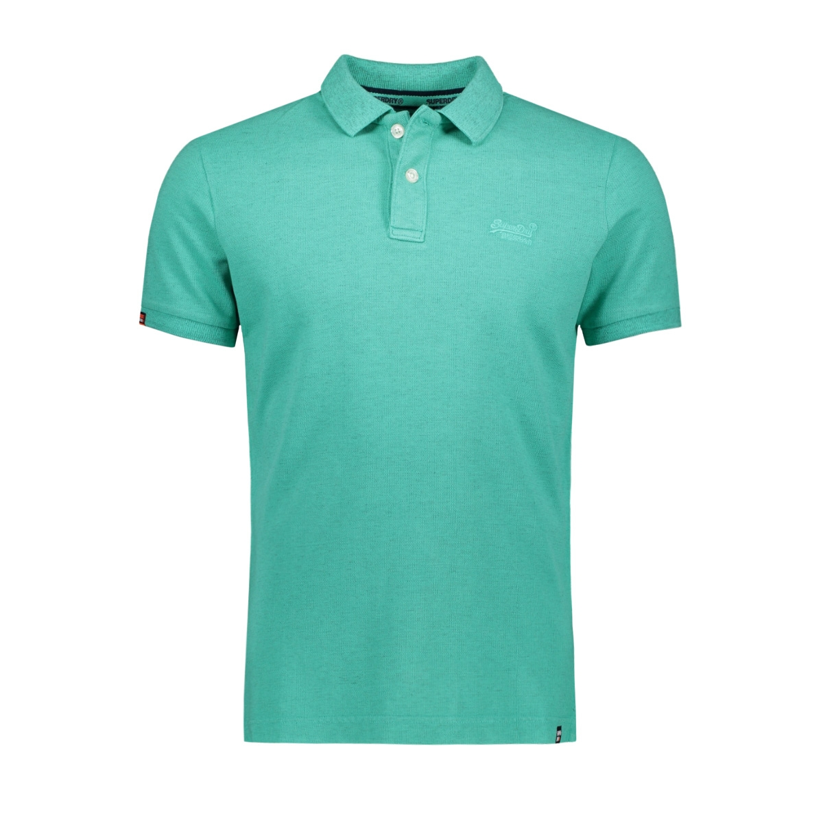 m11017rt vintage destroyed polo superdry polo aqua marl
