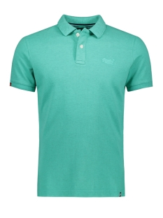 Superdry Polo M11017RT VINTAGE DESTROYED POLO AQUA MARL