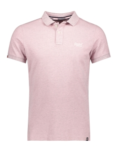 Superdry Polo M11017RT VINTAGE DESTROYED POLO POWDER PINK MARL