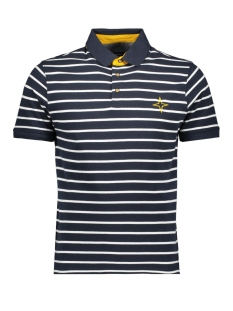 Haze & Finn Polo MC11-0301 NAVY WHITE