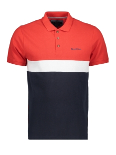 Haze & Finn Polo MC11 0212 NAVY WHITE RED