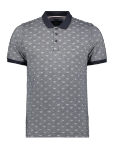 Haze & Finn Polo MC11 0302 NAVY TEXTURE WHITE PAPERHAT