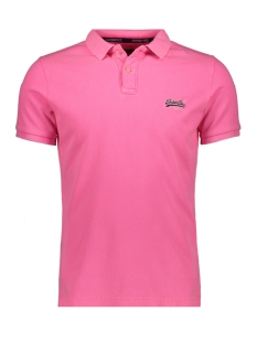 Superdry Polo HYPER CLASSIC PIQUE POLO M11010ET MALIBU PINK