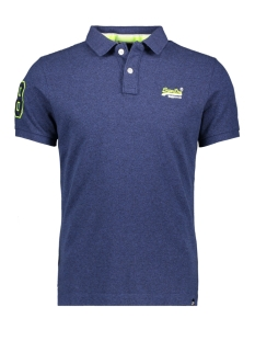 Superdry Polo CLASSIC PIQUE POLO M11006ET STORM BLUE GRIT