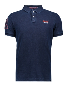 Superdry Polo M11006ET CLASSIC PIQUE POLO TRUE INDIGO