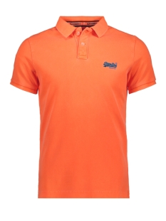 Superdry Polo HYPER CLASSIC PIQUE POLO M11010ET FLURO ORANGE