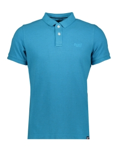 Superdry Polo VINTAGE DESTROYED POLO M11017RT BEACH BLUE MARL