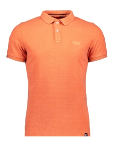 Superdry Polo VINTAGE DESTROYED POLO M11017RT FLURO ORANGE MARL