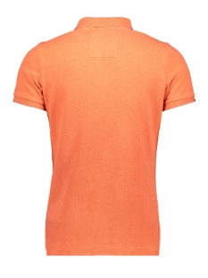 vintage destroyed polo m11017rt superdry polo fluro orange marl