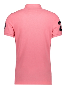 m11008et classic superstate pique polo superdry polo pink fluro grit