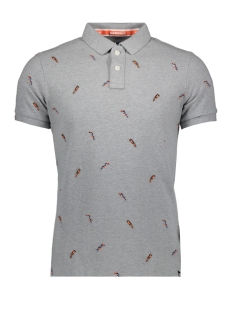 Superdry Polo BERMUDA POLO M11002ET BIRD PARADISE LIGHT GREY GRIT