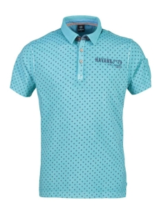 Lerros Polo KORTE MOUW POLO MET ALL OVER PRINT 2933271 428