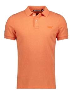 Superdry Polo VINTAGE DESTROY S S PIQUE POLO M11009TQF5 SUNSET ORANGE