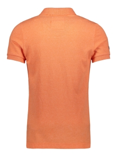 vintage destroy s s pique polo m11009tqf5 superdry polo sunset orange
