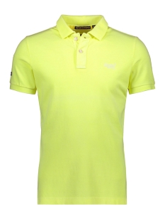 Superdry Polo VINTAGE DESTROY S S PIQUE POLO M11009TQF5 BLEACH ULTRA LEMON