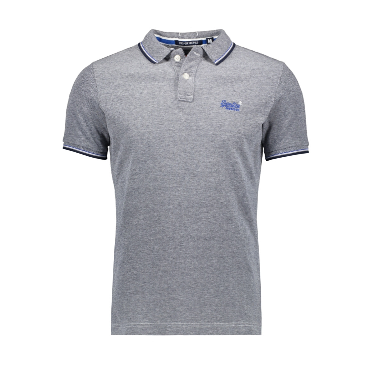 clasic poolsde s s pique polo m11000oq superdry polo navy/white