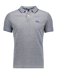 Superdry Polo CLASIC POOLSDE S S PIQUE POLO M11000OQ NAVY/WHITE