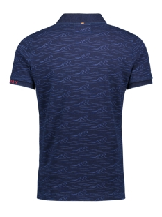 city s/s aop jersey m11019tqds superdry polo dark indigo wave